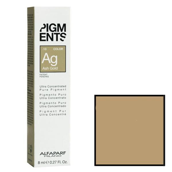 Pigment Concentrat Cenusiu Auriu - Alfaparf Milano Ultra Concentrated Pure Pigment ASH GOLD 8 ml imagine produs