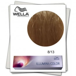 Vopsea Permanenta - Wella Professionals Illumina Color Nuanta 8/13 blond deschis cenusiu auriu