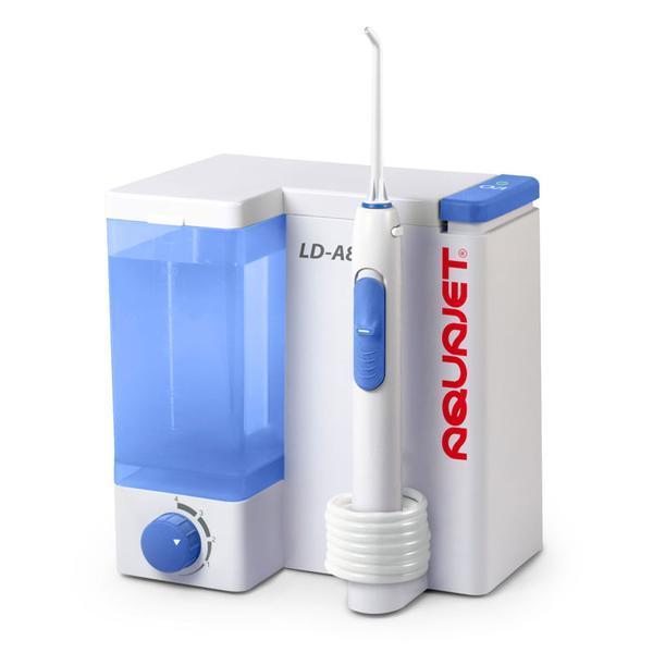 Irigator bucal Little Doctor Aquajet LD A8 pentru adulti, profesional, 1200 impulsuri/min, 4 duze incluse, alb