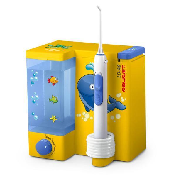Irigator bucal Little Doctor Aquajet LD A8 pentru adulti si copii, profesional, 1200 impulsuri/min, 4 duze incluse, galben