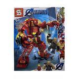 Set de constructie, Avengers - Black Dwarf vs IronMan si HulkBuster, 356 piese