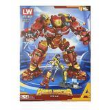 Set de constructie, Avengers - IronMan Hero Mecha, 568 piese tip lego