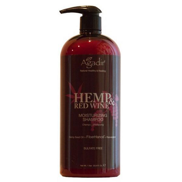Sampon Hidratant - Agadir Hemp & Red Wine Moisturizing Shampoo, 1000 ml