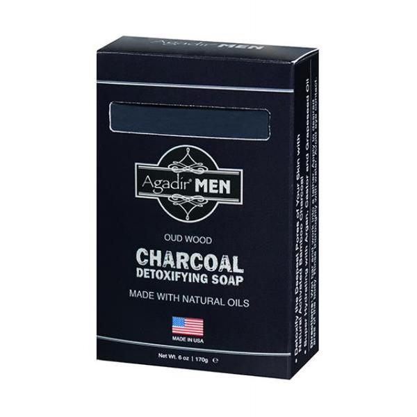 Sapun Detox cu Lemn Oud si Carbune - Agadir Men Oud Wood Charcoal Detoxifying Soap, 170 g