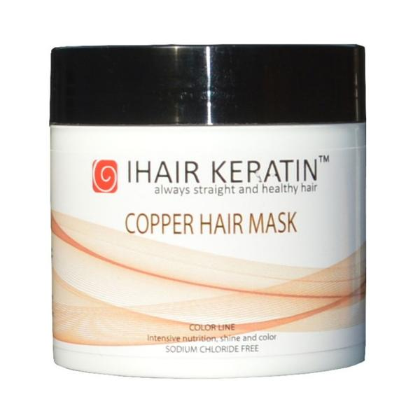Masca Nuantatoare Aramie - Copper Hair Mask iHair Keratin, 500 ml