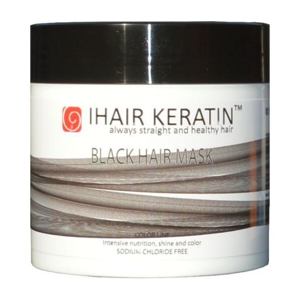 Masca Nuantatoare Neagra - Black Hair Mask iHair Keratin, 500 ml