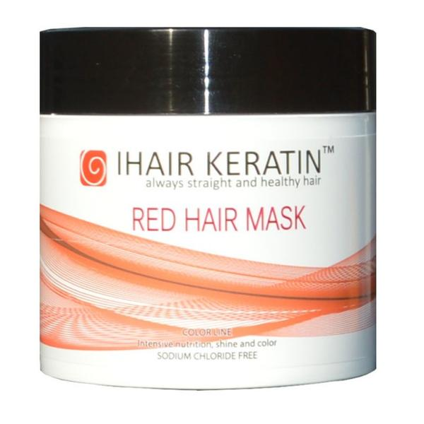 Masca Nuantatoare Rosie - Red Hair Mask iHair Keratin, 500 ml