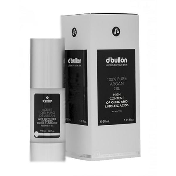 Ulei de Argan Nutritiv 100% Pur - D'Bullon 100% Pure Argan Oil, 30 ml