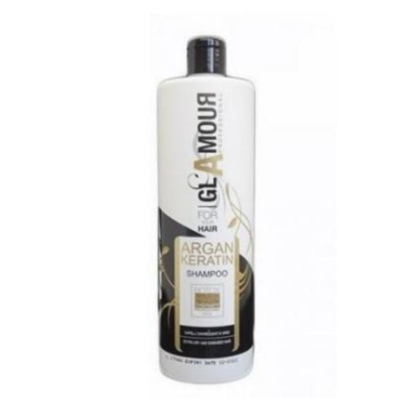 Sampon pentru par cu argan si keratina cu efect de botox, Glamour 1000 ml
