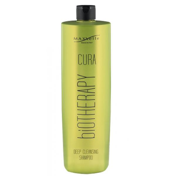Sampon pentru Par Gras si Anti-Matreata - Maxxelle Cura Biotherapy Deep Cleansing Shampoo, 1000 ml
