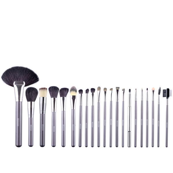 Set 21 Pensule Make-up Cu Husa Neagra Megaga