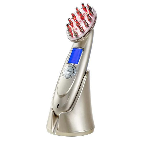 Perie cu Laser Reincarcabila USB, Vibratii Scalp Regrowth Hair, Stimuleaza cresterea si regenerarea prin masajul parului, Tratament anti-Cadere Par
