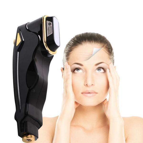 Aparat Ultrasunete Mini HIFU Lifting Facial, Indepartarea Ridurilor, Intinerirea pielii - Energie cu ultrasunete concentrata la intensitate ridicata 22S, Black