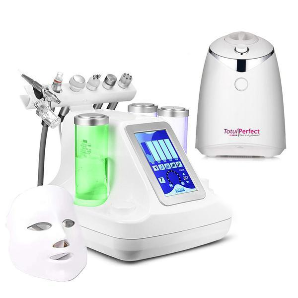 Aparat Cosmetic 7in1 Jet Hidroxigen Micro Bule Indepartare Puncte Negre, Dermoabraziune, Curatare, Hidratantare, Lifting Saloane, Indepartarea Acneei, Ultrasunete, RF + Aparat Preparare Masti Fructe