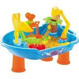Masuta de joaca pentru apa si nisip rotunda Little Boat - Bebeking
