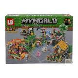 Set de constructie LEGO Minecraft, My world, Flowers,6 ani, 203 piese, 4 in 1
