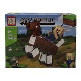 Set de constructie LEGO Minecraft, cal, My world, 201 piese, 6 ani