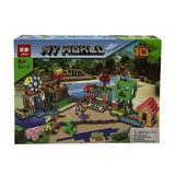 Set de constructie LEGO Minecraft 4 in 1, My world, 178 piese, 6 ani