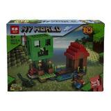 Set de constructie LEGO Minecraft 4 in 1, Fortareata, My world, 194 piese, 6 ani