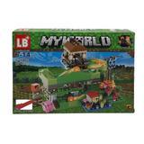 Set de constructie LEGO Minecraft, My world, Topogan, 227 piese, 4 in 1