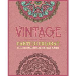 Vintage. Carte de colorat, editura Litera