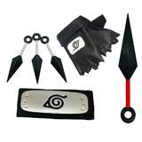 kit bandana Konoha, Manusi si cutite Shinobi din plastic, Naruto