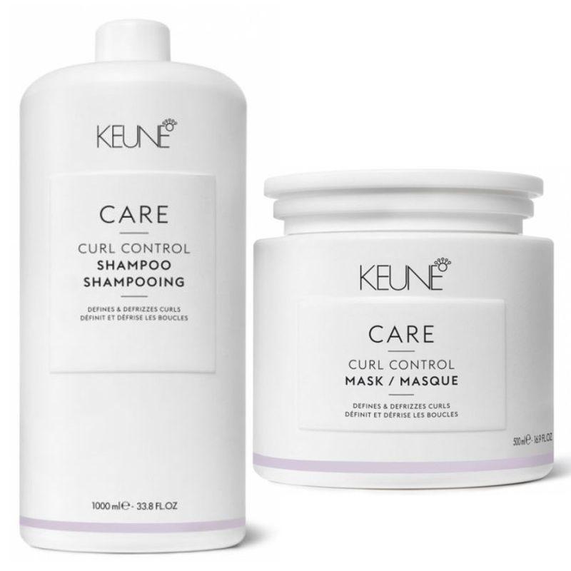 Pachet Keune Care Curl Control 2 - Sampon si Masca