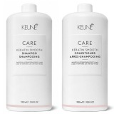 Pachet 1 Keune Care Keratin Smooth 1000 ml - Sampon si Balsam