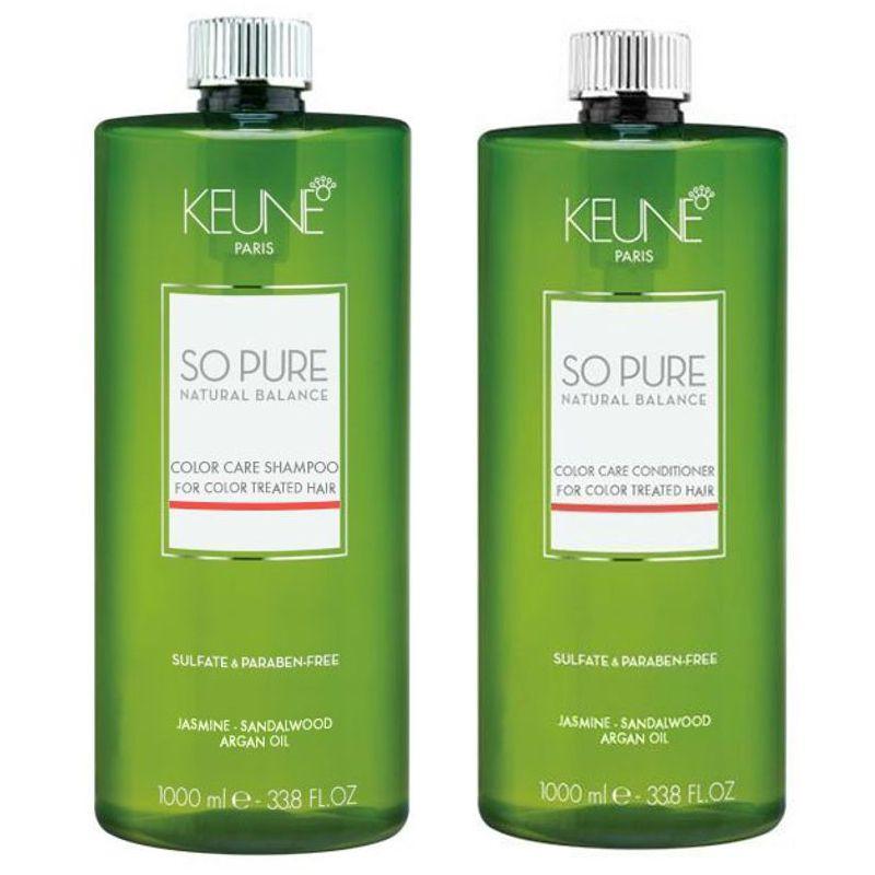 Pachet Keune So Pure Color Care 1000 ml - Sampon si Balsam