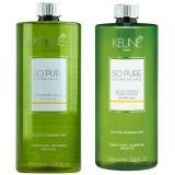 Pachet Keune So Pure Moisturizing 1000 ml - Sampon si Balsam