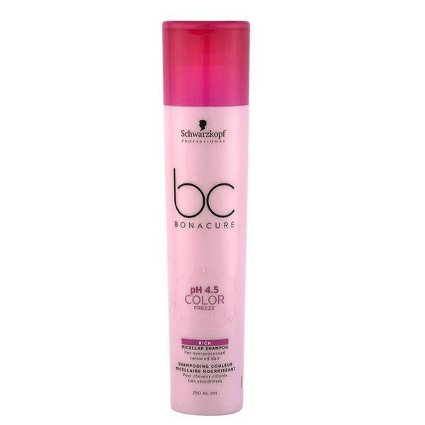 Sampon Micelar Nutritiv pentru Par Vopsit - Schwarzkopf BC Bonacure pH 4.5 Color Freeze Rich Micellar Shampoo for Overprocessed Cloured Hair, 250 ml image0