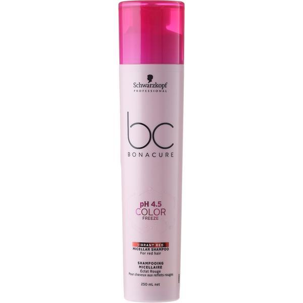Sampon Micelar pentru Par Roscat - Schwarzkopf BC Bonacure pH 4.5 Color Freeze Micellar Shampoo for Red Hair, 250ml image0