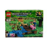 Set de constructie JLB cu minifigurine, 154 piese, Minecraft
