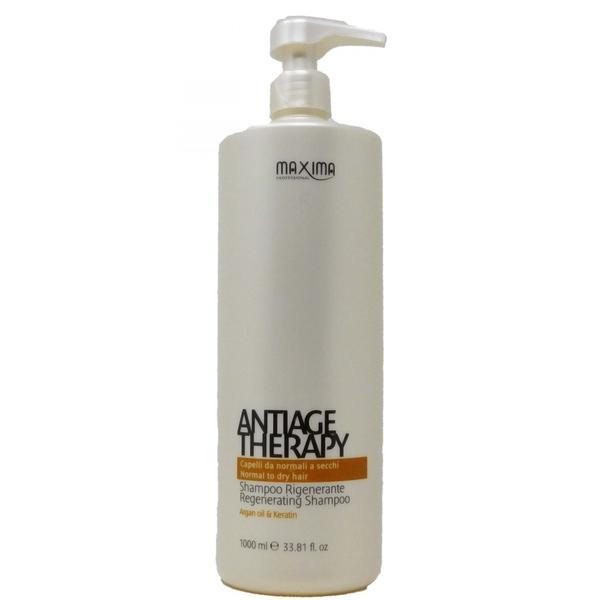 Sampon Regenerant cu Ulei de Argan si Cheratina pentru Par Normal sua Uscat - Maxima Antiage Therapy Regenerating Shampoo Normal to Dry Hair,, 1000 ml image0