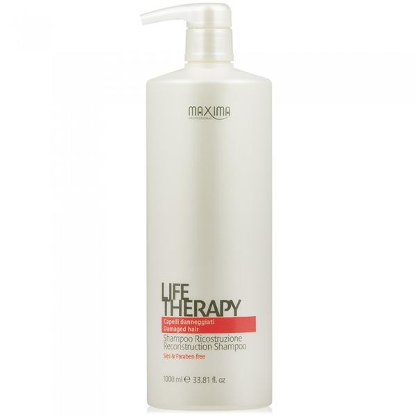 Sampon Reconstructie pentru Par Deteriorat - Maxima Life Therapy Reconstruction Shampoo Damaged Hair, 1000 ml image0