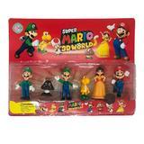 Set 6 Figurine Super Mario si Luigi 3D worlds, 6-8 cm