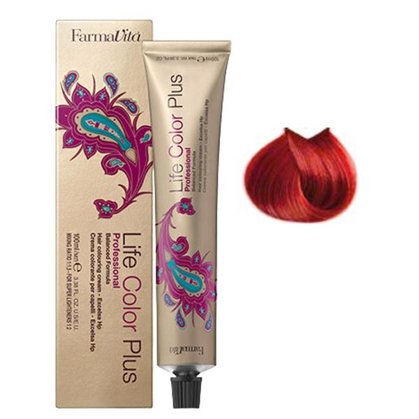 Vopsea Permanenta – FarmaVita Life Color Plus Professional, nuanta 8.66 Light Intense Red Blonde, 100 ml