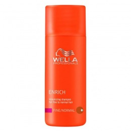 Sampon Volum Pentru Par Fin Si Normal Wella Professionals Enrich Volumizing Shampoo 50 Ml