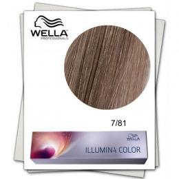 Vopsea Permanenta - Wella Professionals Illumina Color Nuanta 7/81 blond mediu albastru cenusiu