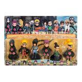 Set 6 Figurine Naruto Shippuden, dimensiune 10 cm, multicolor, 6 personaje diferite, 3 ani