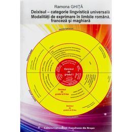 Deixisul - Categorie lingvistica universala. Mod de exprimare in ro, fr si maghiara - Ramona Ghita, editura Universitatea Transilvania
