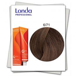 Vopsea Fara Amoniac - Londa Professional nuanta 6/71 blond inchis maro cenusiu
