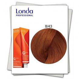 Vopsea Fara Amoniac - Londa Professional nuanta 8/43 blond deschis cupru auriu