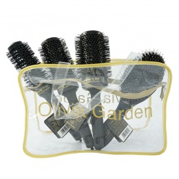 Set Perii Negre - Olivia Garden Thermal Black Hairbrush 4 pcs