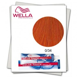 Vopsea fara Amoniac Mixton - Wella Professionals Color Touch Special Mix nuanta 0/34 auriu roscat