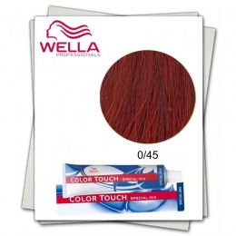 Vopsea fara Amoniac Mixton - Wella Professionals Color Touch Special Mix nuanta 0/45 roscat mahon