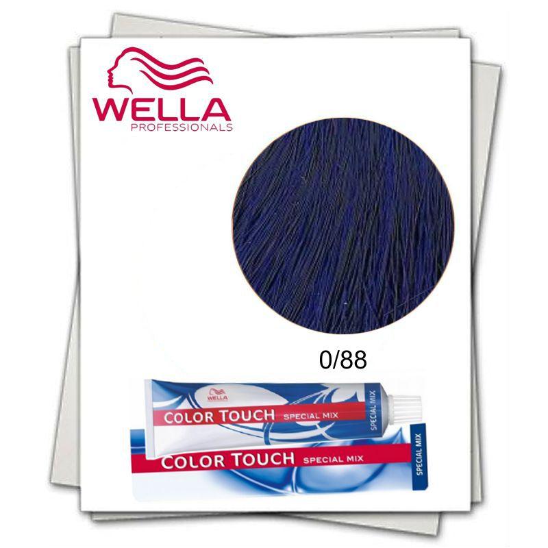 Vopsea fara Amoniac Mixton - Wella Professionals Color Touch Special Mix nuanta 0/88 albastru intens imagine produs