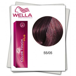 Vopsea fara Amoniac - Wella Professionals Color Touch Plus nuanta 55/05 mahon saten deschis