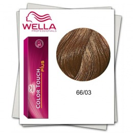 Vopsea fara Amoniac - Wella Professionals Color Touch Plus nuanta 66/03 auriu blond inchis intens