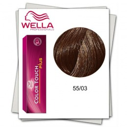 Vopsea fara Amoniac - Wella Professionals Color Touch Plus nuanta 55/03 auriu castaniu deschis intens